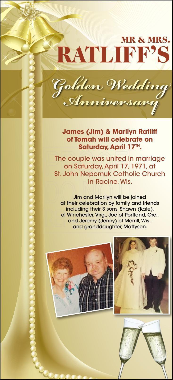James & Marilyn Anniversary