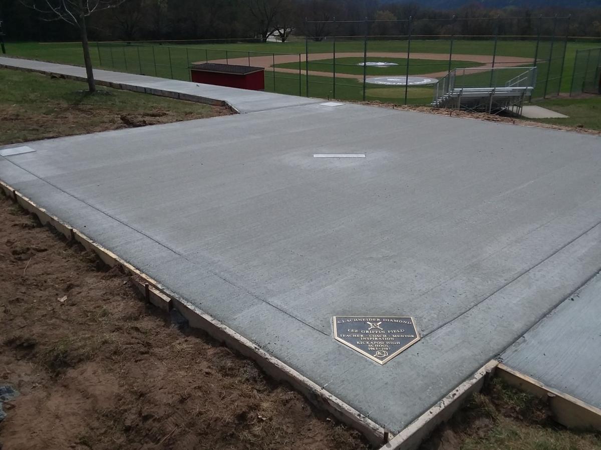 Kickapoo High School baseball viewing platform