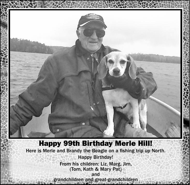 Happy 99th Birthday Merle Hill!