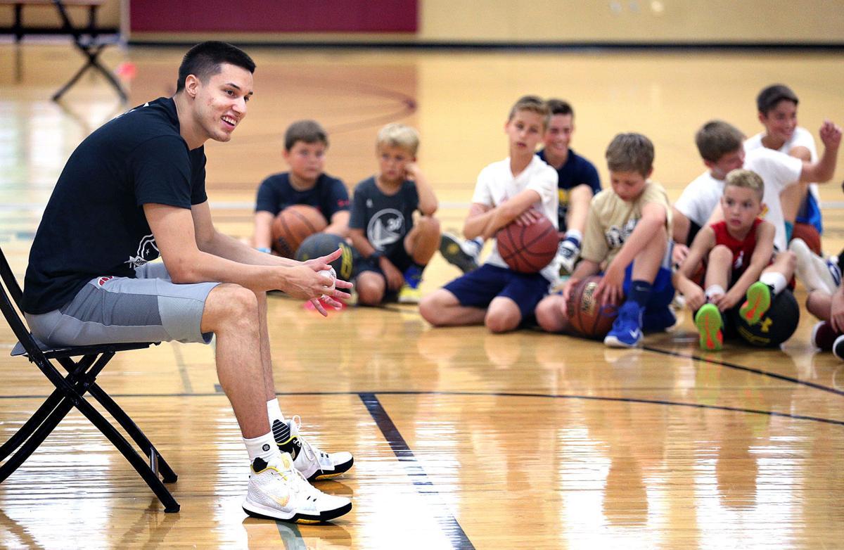 La Crosse Aquinas grad Bronson Koenig hosts basketball camp in hometown