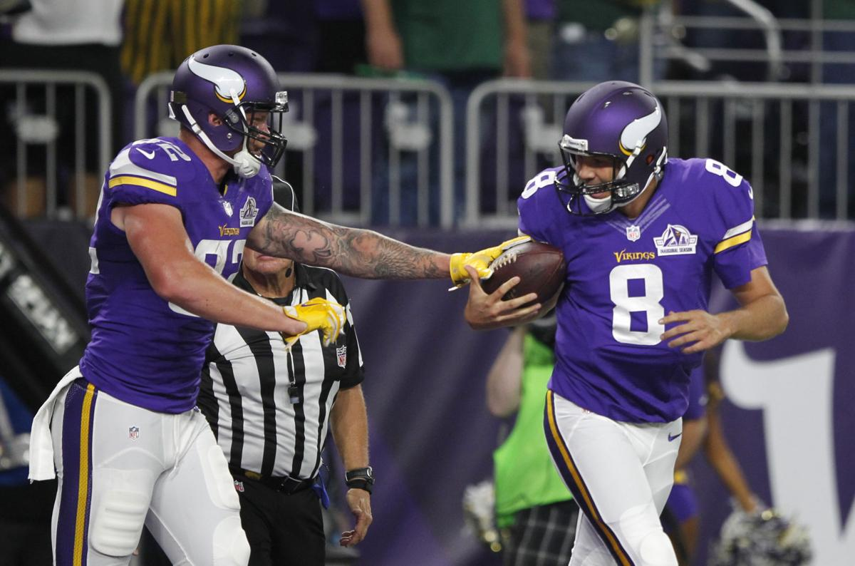 Vikings TE Kyle Rudolph emerging as go-to man for Bradford  862330627