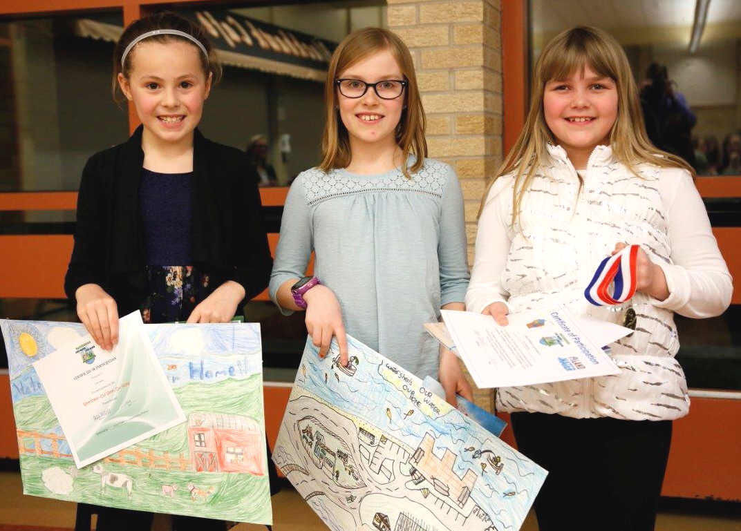 Conservation poster contest winners grades  2-3