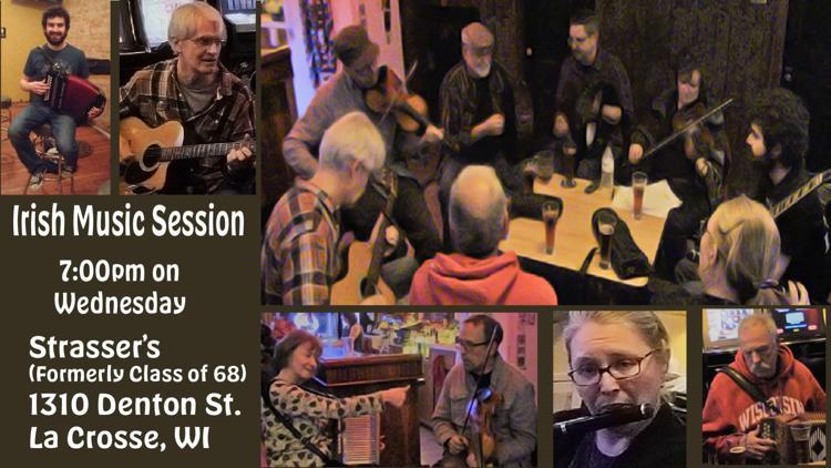 Weekly Wednesday night Irish session at Strasser's