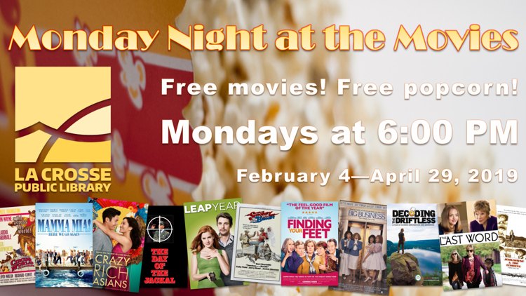 Monday Night at the Movies at the La Crosse Public Library