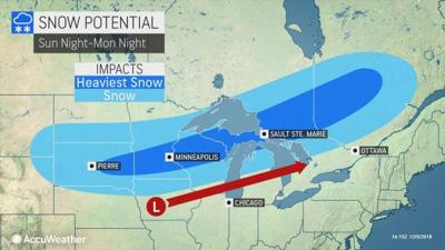 Snow potential Sunday night-Monday night by AccuWeather