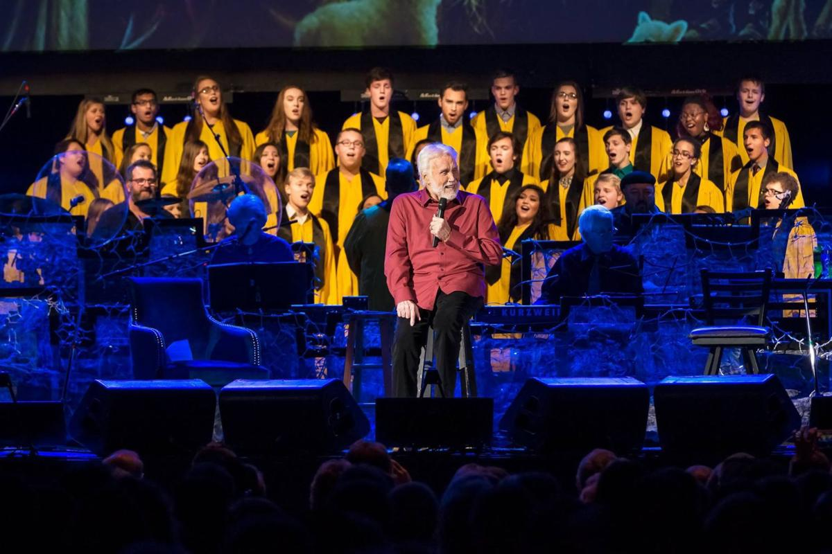 Kenny Rogers and OHS choir