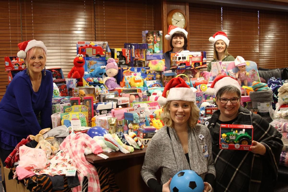 BRMH executive assistants collect items for Project Christmas