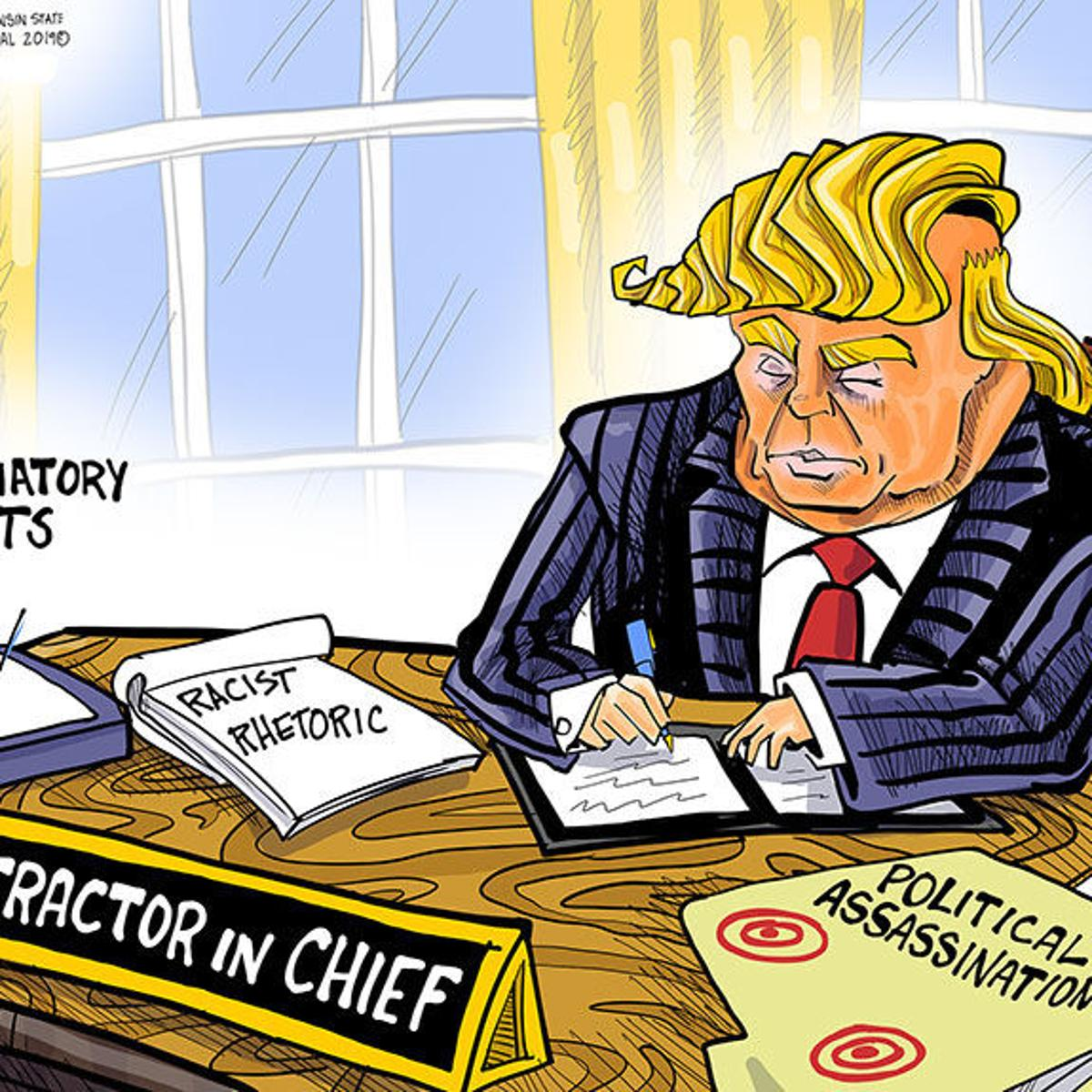 Hands On Wisconsin Donald Trump Is The Distractor In Chief Opinion Lacrossetribune Com