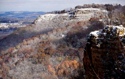 Looking north from Grandad Bluff