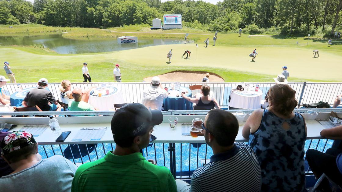 Pro golf: University Ridge 17th hole's beer garden makes for noisy atmosphere