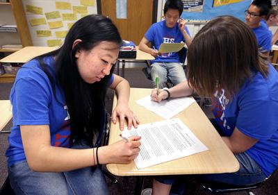 Logan's AVID learners practice skills for college