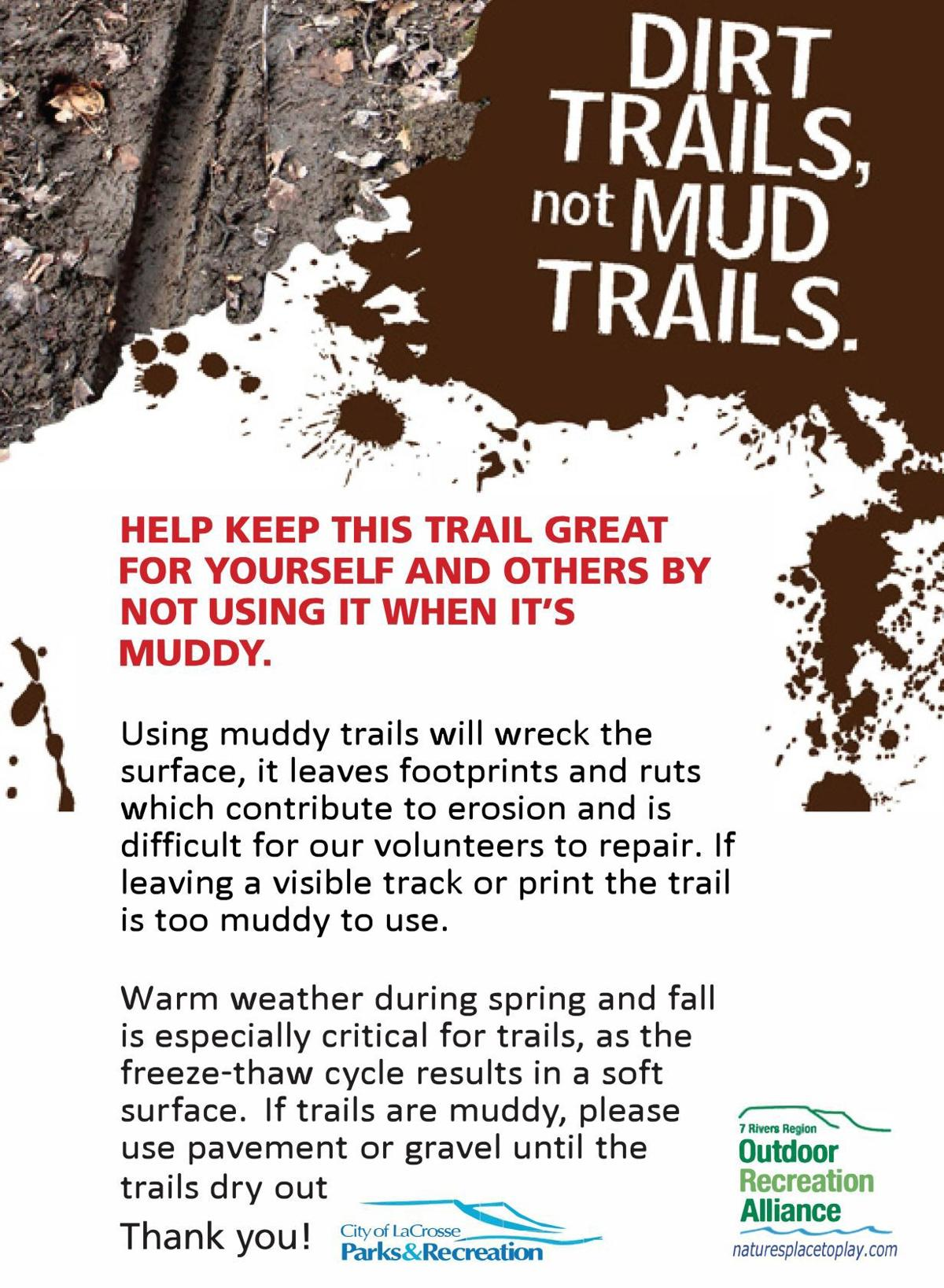 Trail closure graphic
