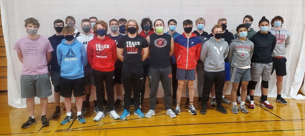 Westby High School boys track team 2021