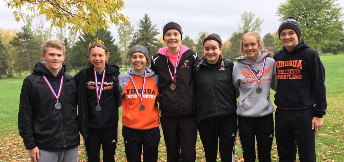 VHS all-conference cross country runners