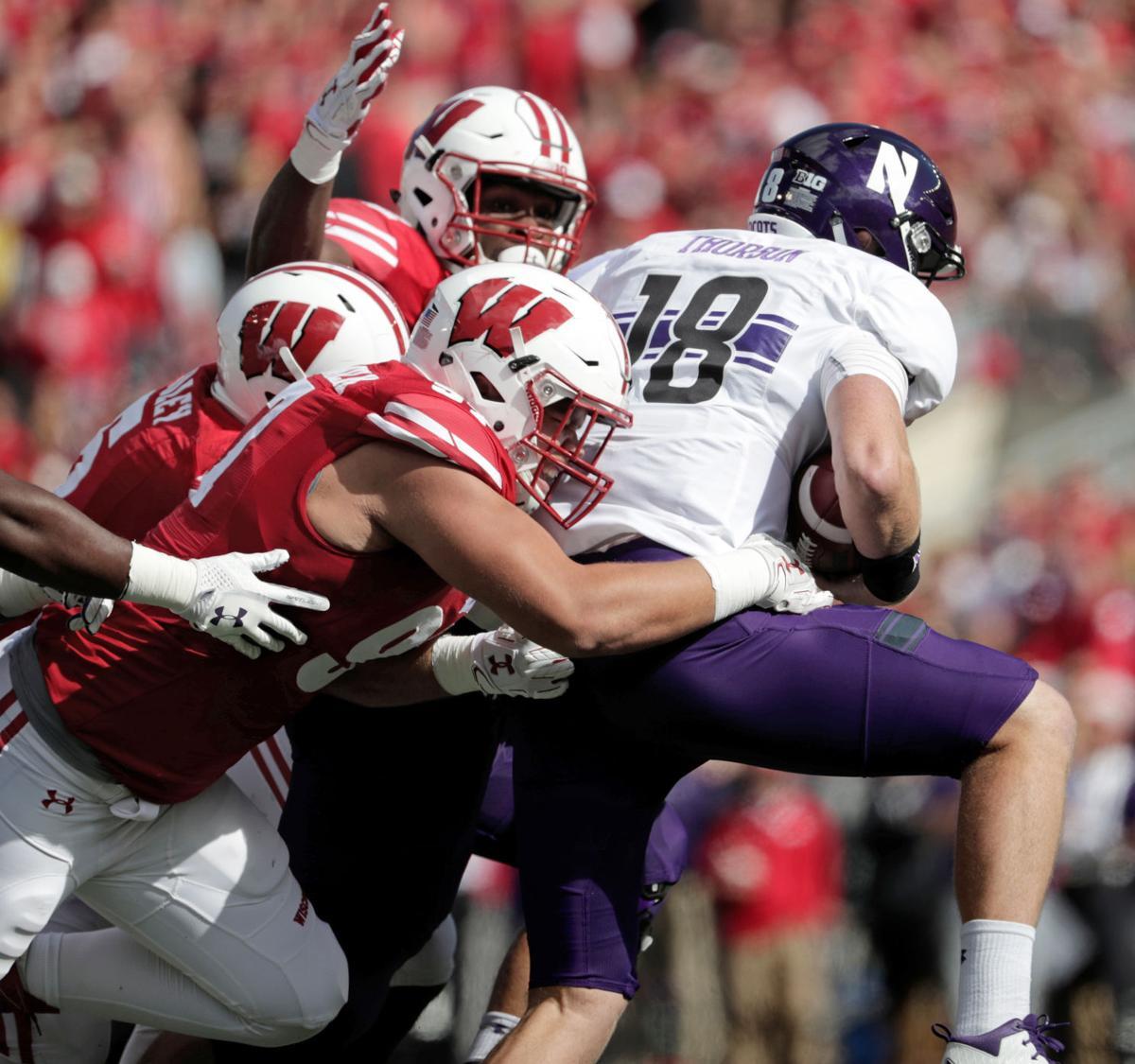 Wisconsin-Northwester sack