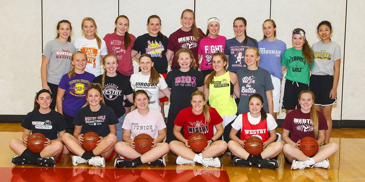 2017-2018 Westby Girls Basketball Team