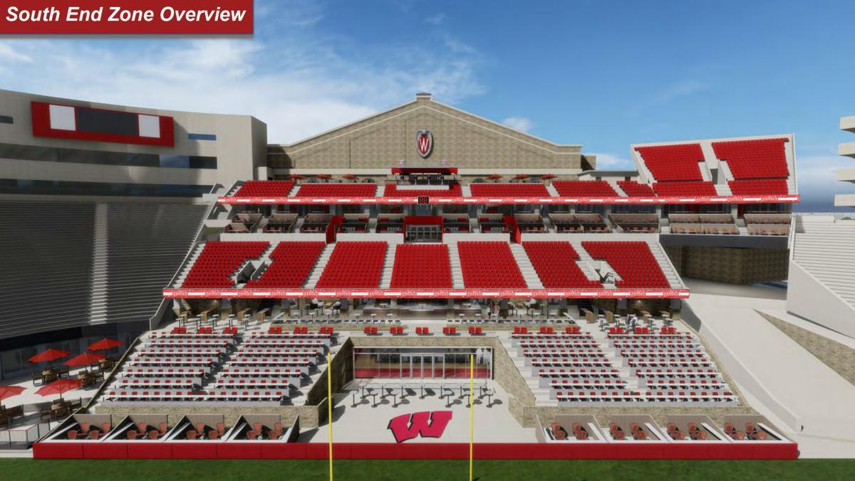 South end zone overview