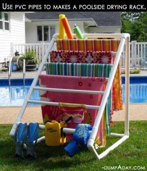 PVC drying rack for towels - Swimming Pool
