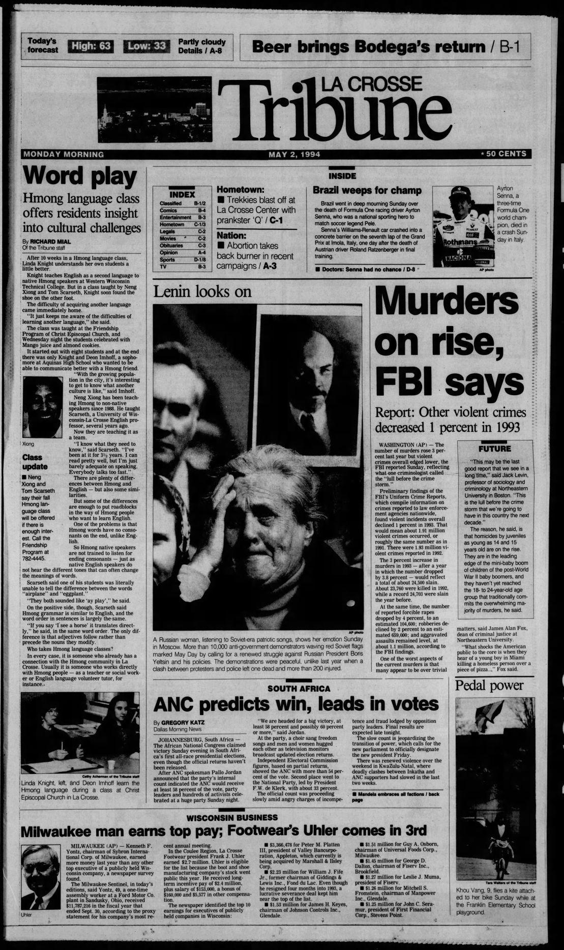 Pages of the past: La Crosse Tribune cover stories 25 years ago this