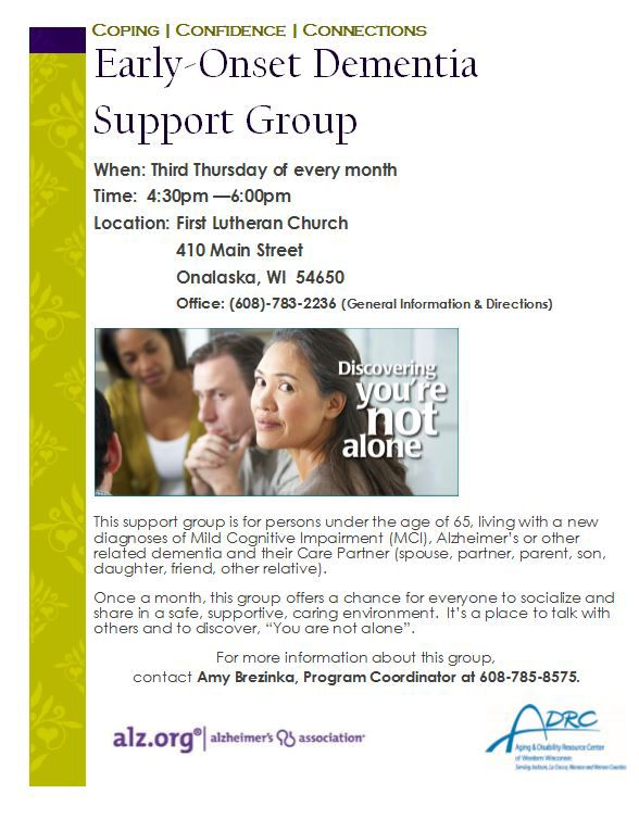 Early Onset Dementia Support Group
