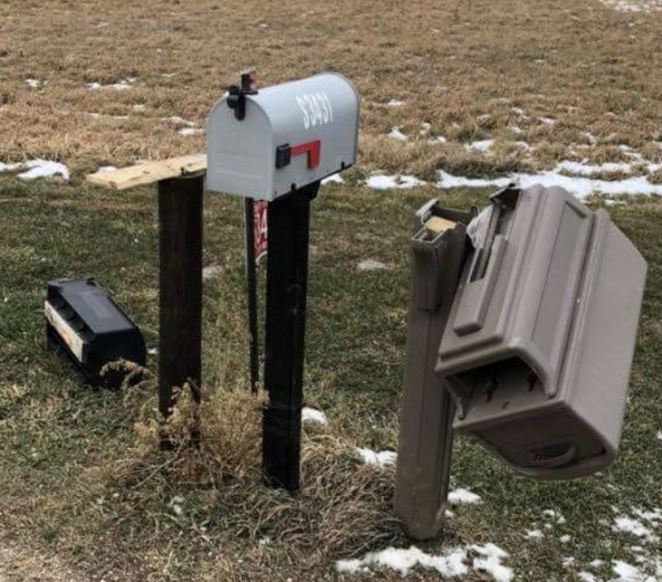 Vandalized mailboxes