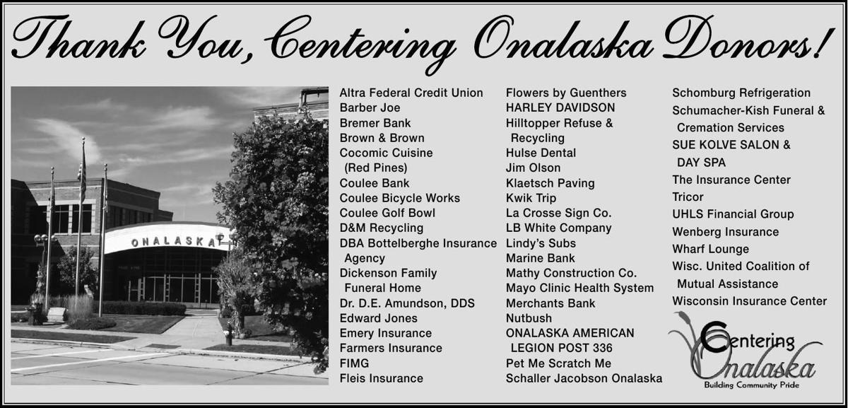 Thank You, Centering Onalaska Donors!