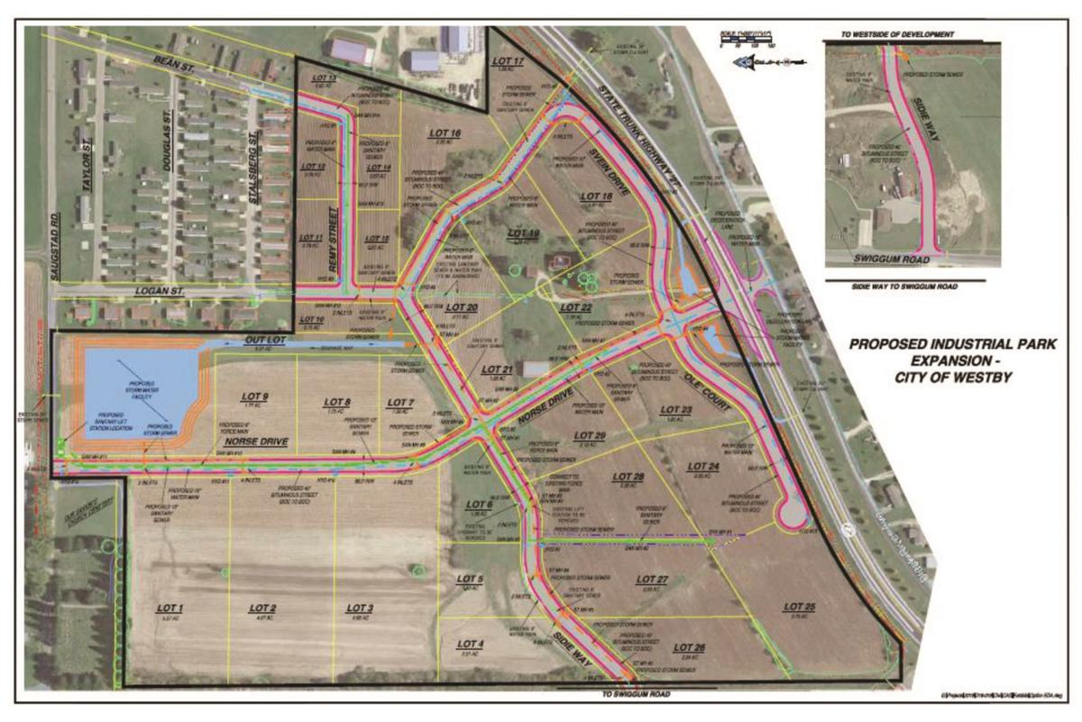 Westby industrial park map