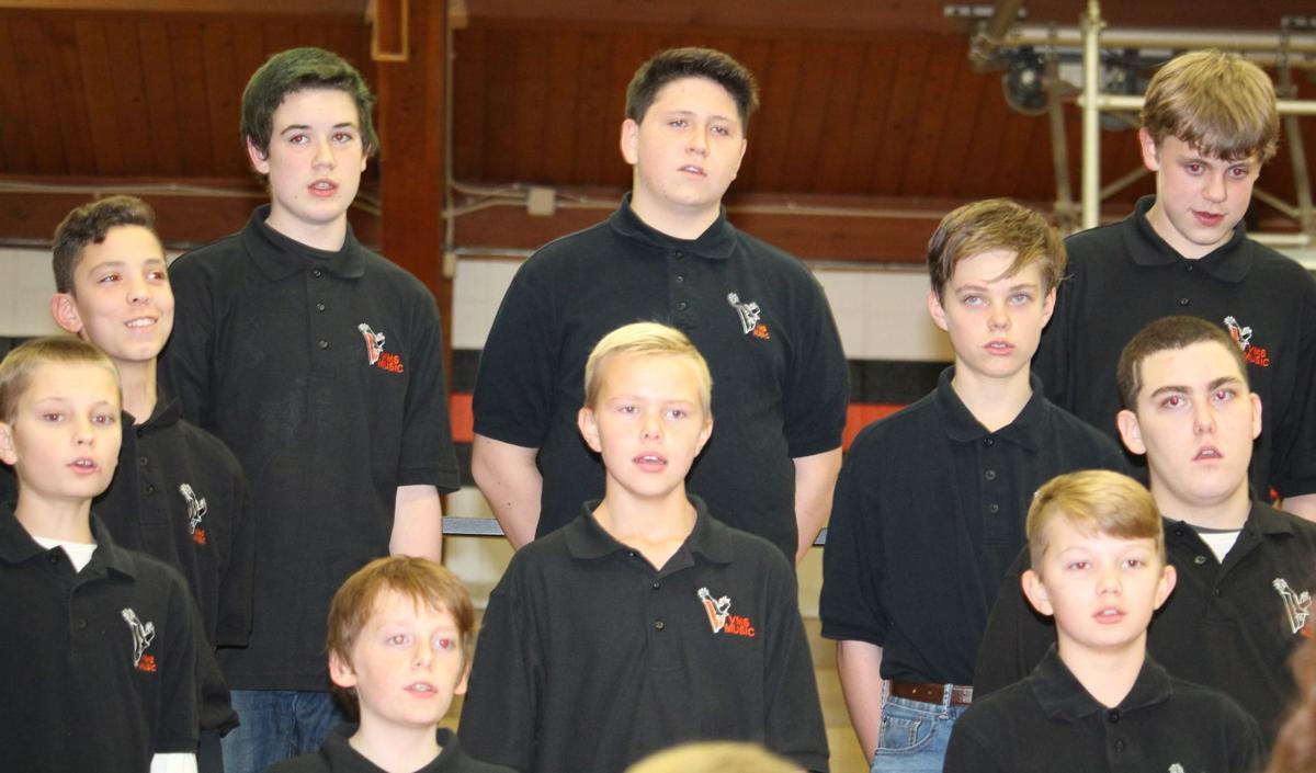 Singing students