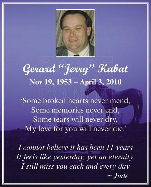 """Gerald """"Jerry"""" Kabat"""