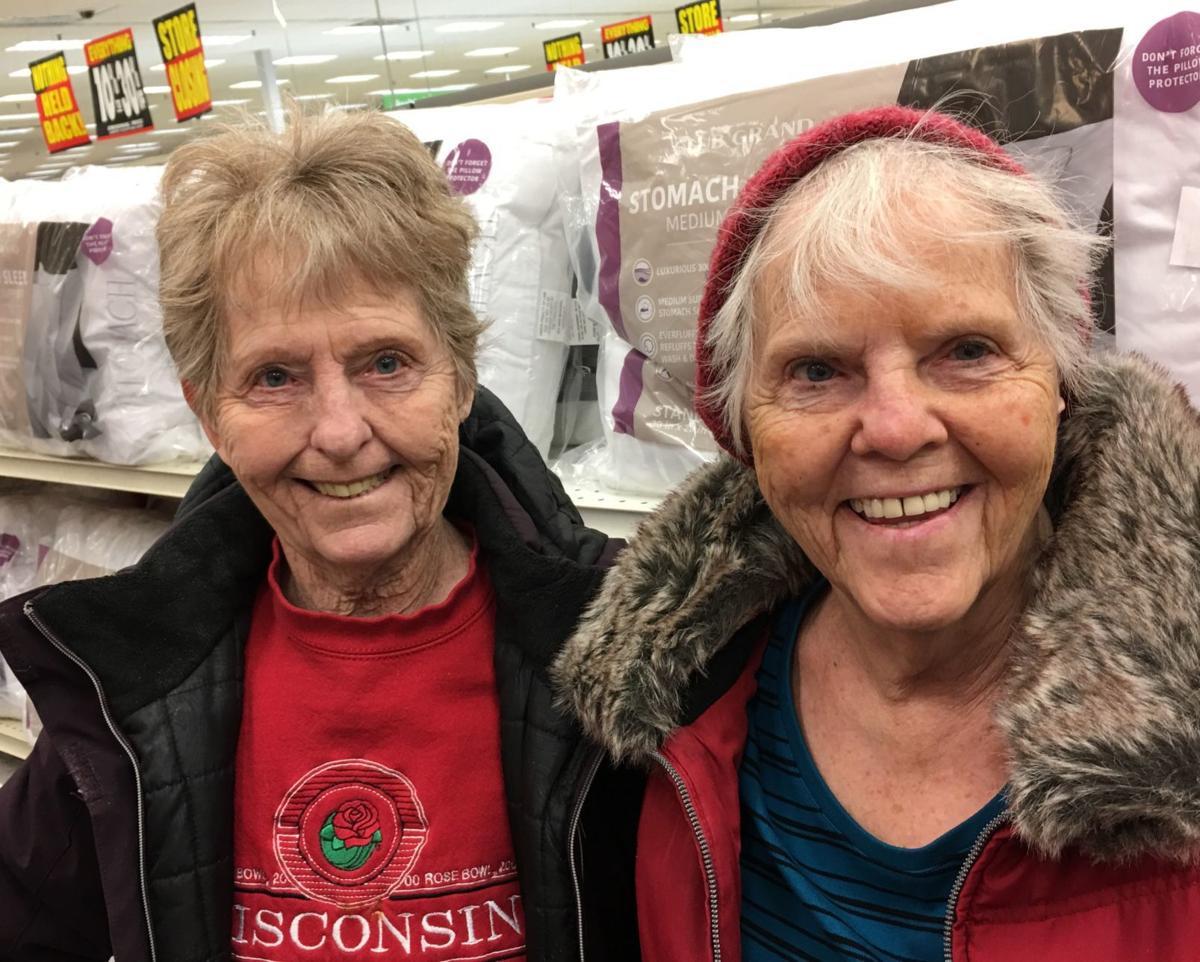 Shopping sisters at Shopko