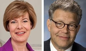 Sens. Tammy Baldwin and Al Franken