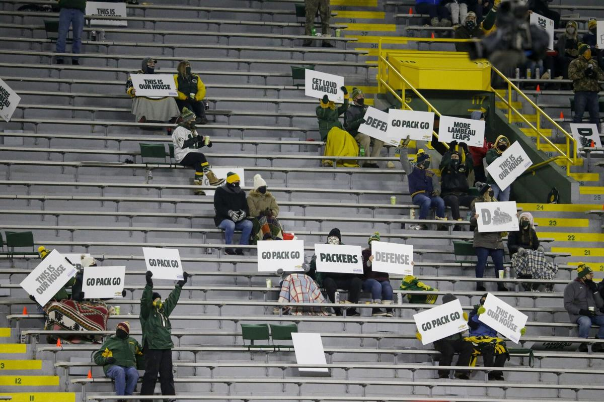 Small number fans at Lambeau Field 12-6-20, AP photo