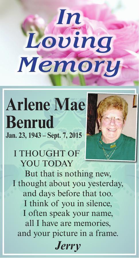 Arlene Mae Benrud