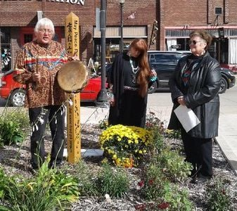 Peace pole dedication