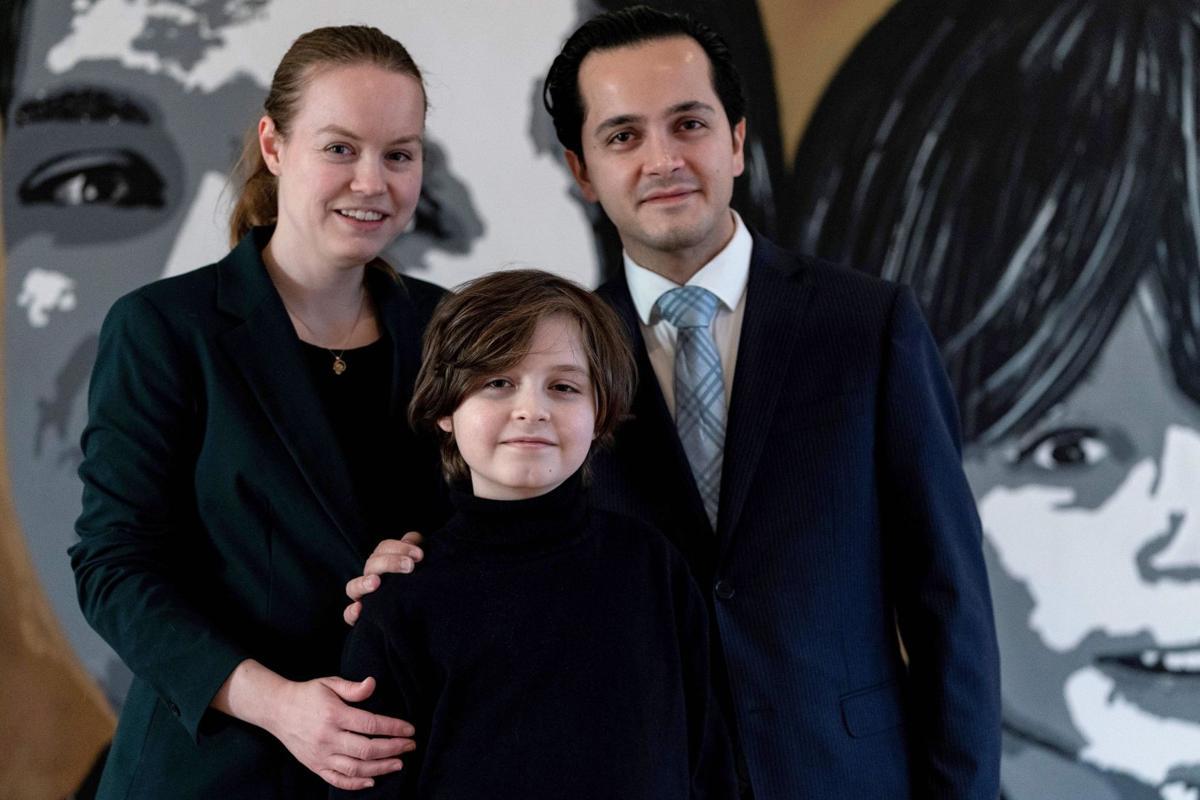 Laurent and parents