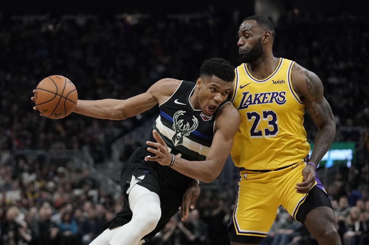 Giannis Antetokounmpo, LeBron James - Bucks vs. Lakers