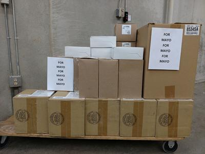 Viterbo donates medical supplies to Mayo in La Crosse