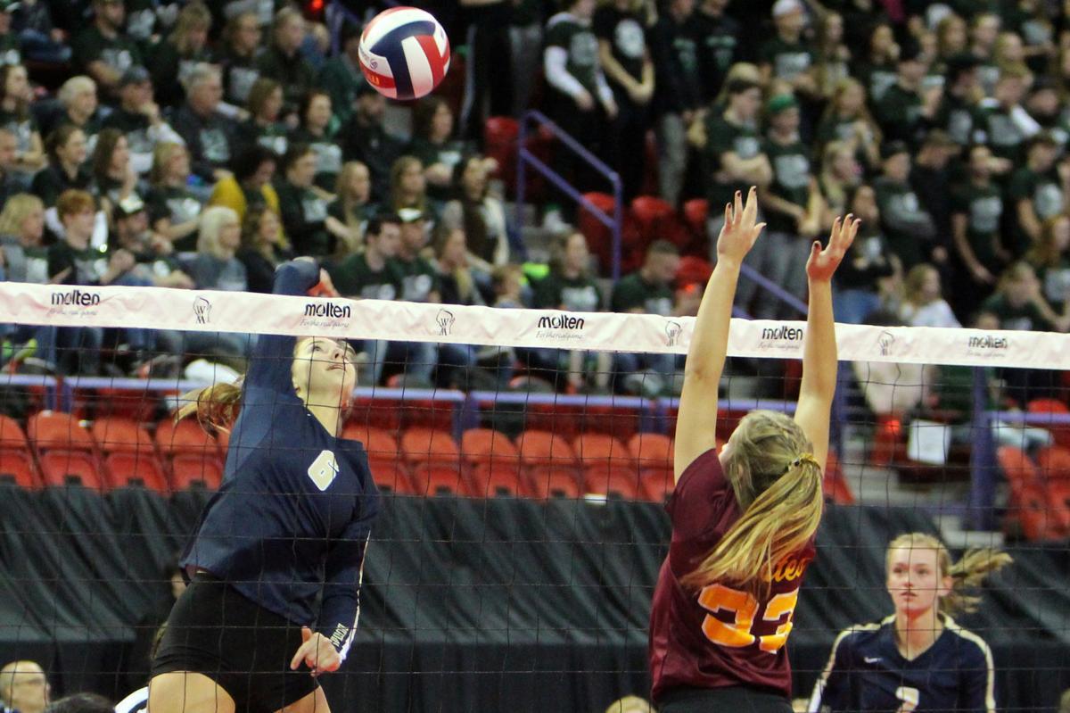 La Crosse Aquinas volleyball vs Waterloo 11-8-19
