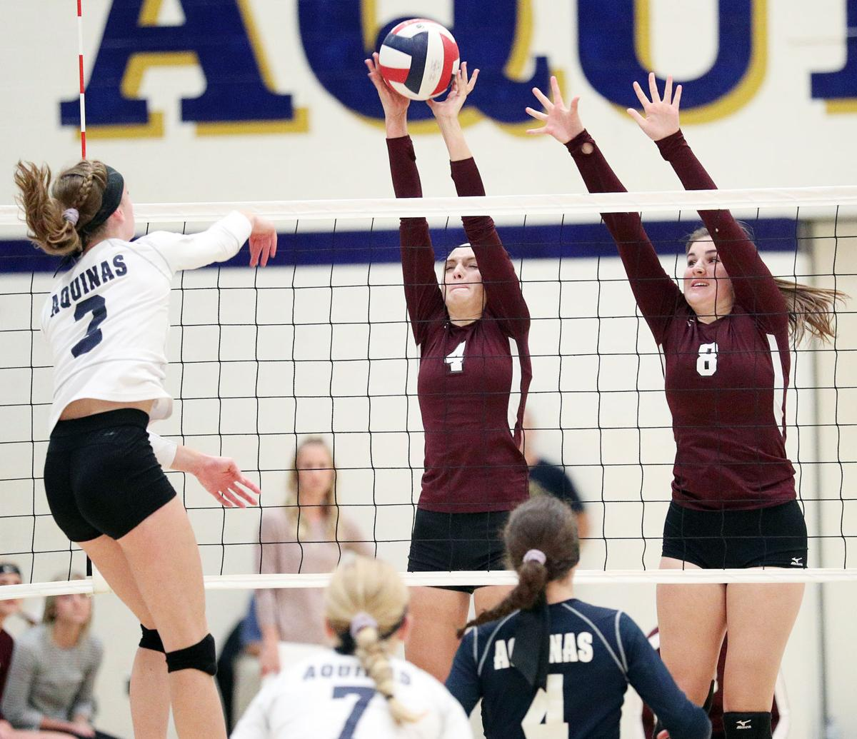 High school volleyball: Blugolds top Vikings in battle for first place