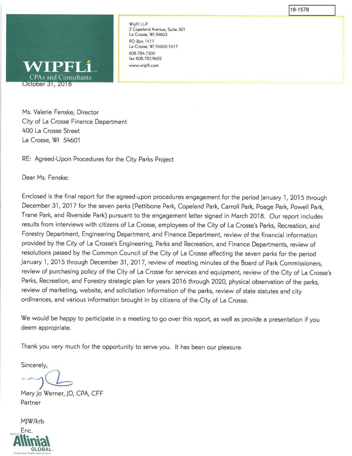 Wipfli Audit Report
