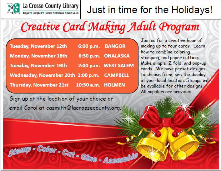 card making event poster