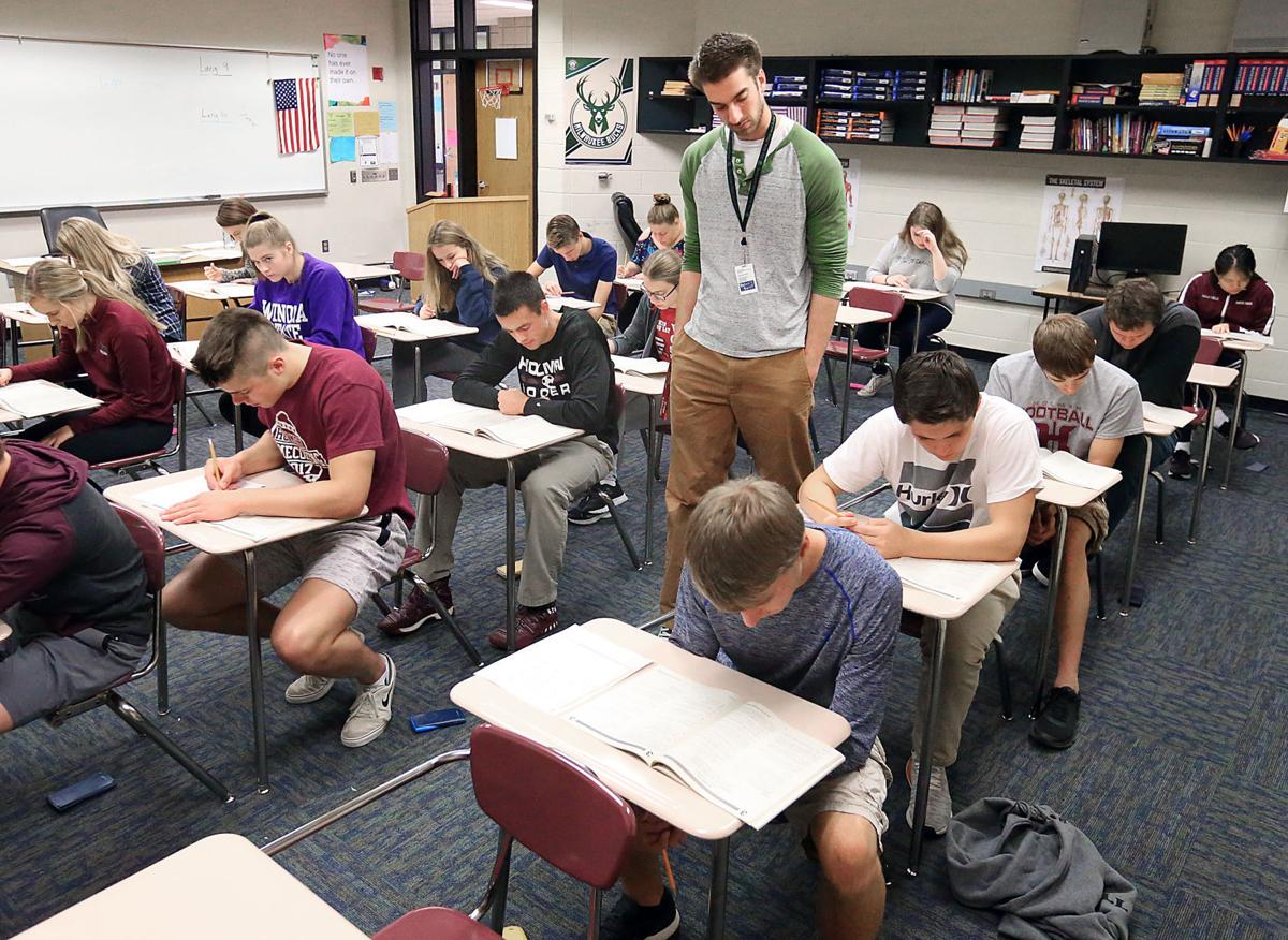 Holmen students prep for annual ACT exam