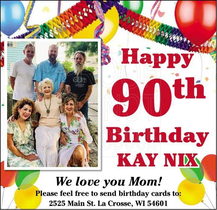 Kay Nix 90th Birthday