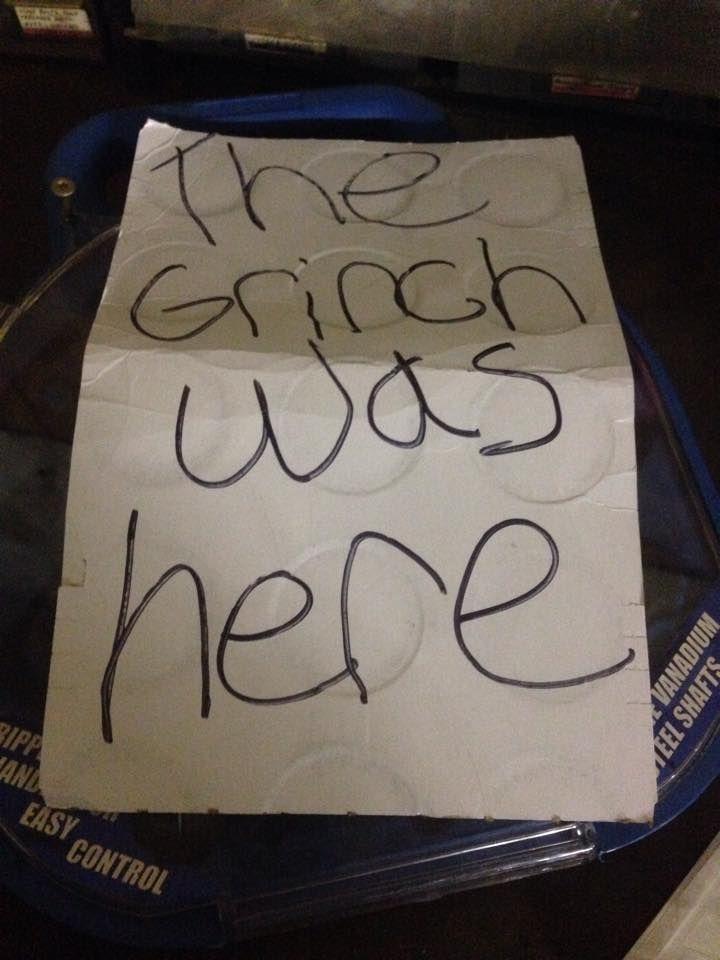 'Grinch' note