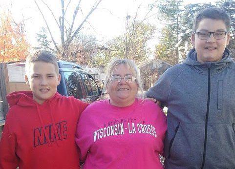 Dawn and David's boys and grandma