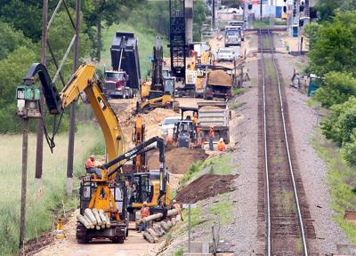 Marsh rail more than half complete; attempt to halt work to take another month