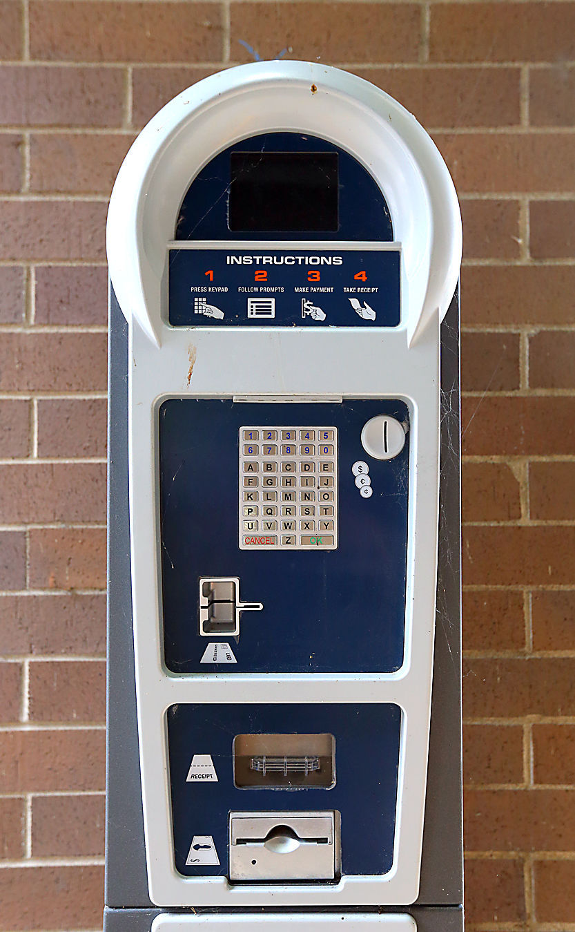 Pay station for gateless parking in La Crosse