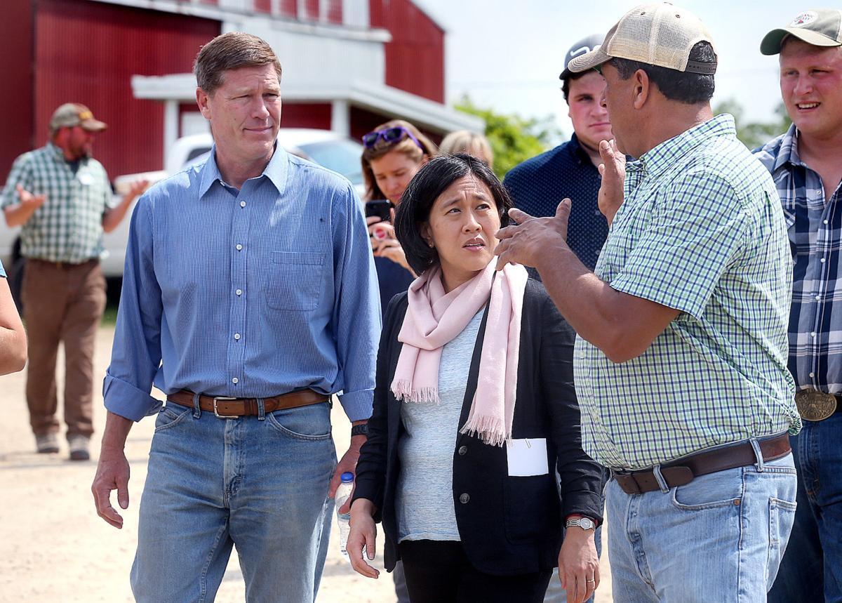 Trade Rep. visits Stoddard farm