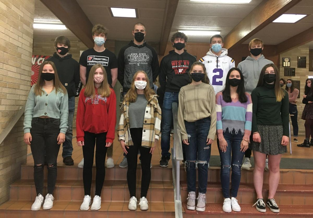 Westby Area High School junior prom court 2021