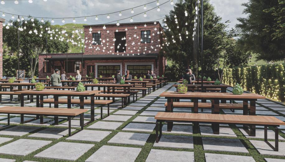 Riverside wedding venue and beer garden